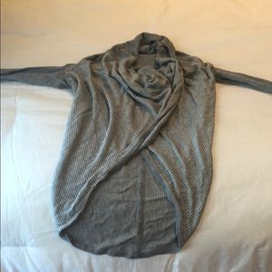 Lululemon Striped Wrap Front Sweater
